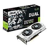 Asus Dual GeForce GTX1070-O8G Gaming Grafikkarte (Nvidia, PCIe 3.0, 8GB GDDR5...