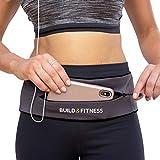Build & Fitness Laufgürtel YKK Reißverschlusstasche, verstellbare Taille mit Schlüssel-Clip –...