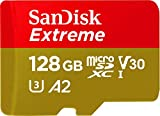 SanDisk Extreme microSDXC 128GB + SD Adapter + Rescue Pro Deluxe 160MB/s A2 C3 V30 UHS-I U3