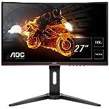 AOC Gaming C27G1 68,6 cm (27 Zoll) Curved Monitor (FHD, HDMI, 1ms, DisplayPort,...
