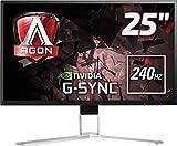 AOC Agon AG251FG 63 cm (24,5 Zoll) Monitor (HDMI, USB Hub, Displayport, 1ms Reaktionszeit, 240 Hz,...