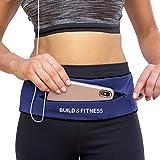 Build & Fitness Laufgürtel YKK Reißverschlusstasche, verstellbare Taille mit...
