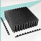 CCLIFE Bodenschutzmatte 30x30 60x60 rutschfeste Schutzmatte für Fitnessgeräte Fitness Fitnessraum...