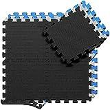 Schutzmatten Set Puzzlematte Bodenschutz Matte - 18 Puzzle Bodenschutzmatten Unterlegmatte | Fitnessmatte...