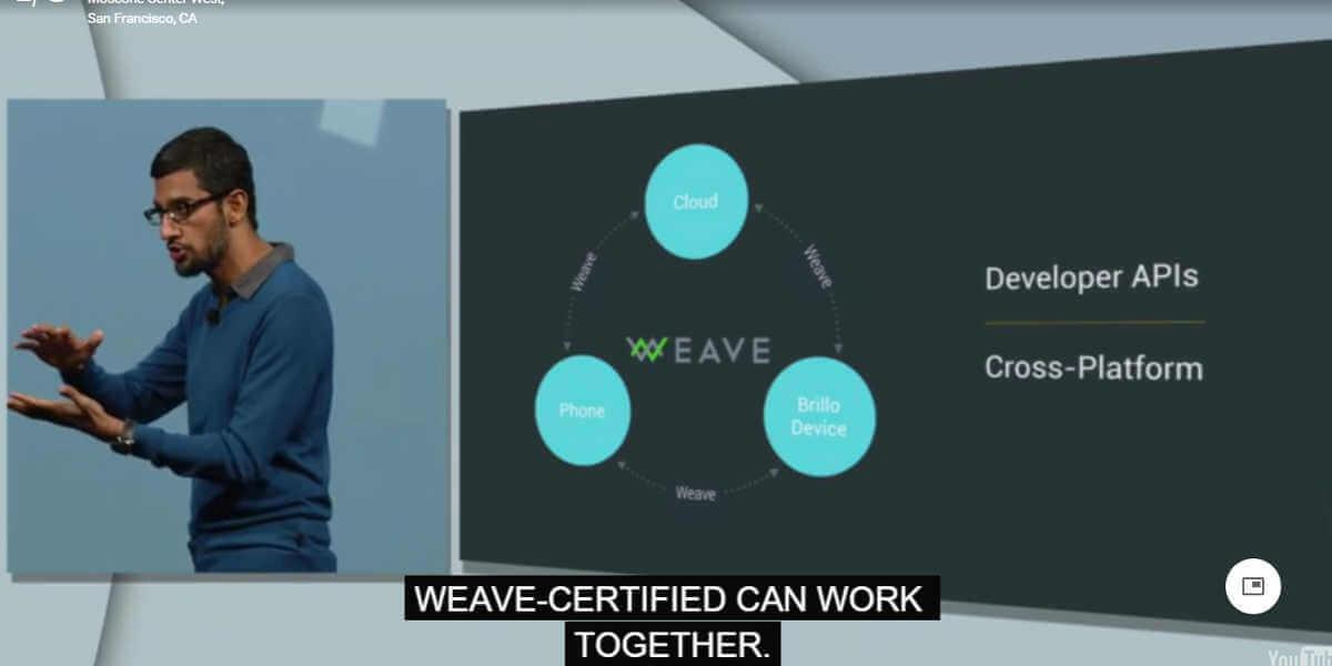 Weave ist die Programmiersprache, die das Betriebssystem Brillo mit Geräten oder der Cloud verbindet.