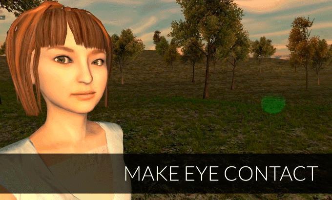 FOVE Augenkontakt VR-Brille GIF