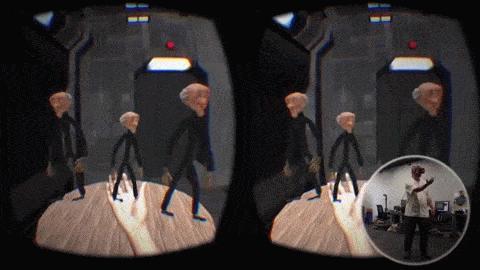 In der Umgebung von Near Field VR können Nutzer mit den Stop-Motion-Animationen interagieren.