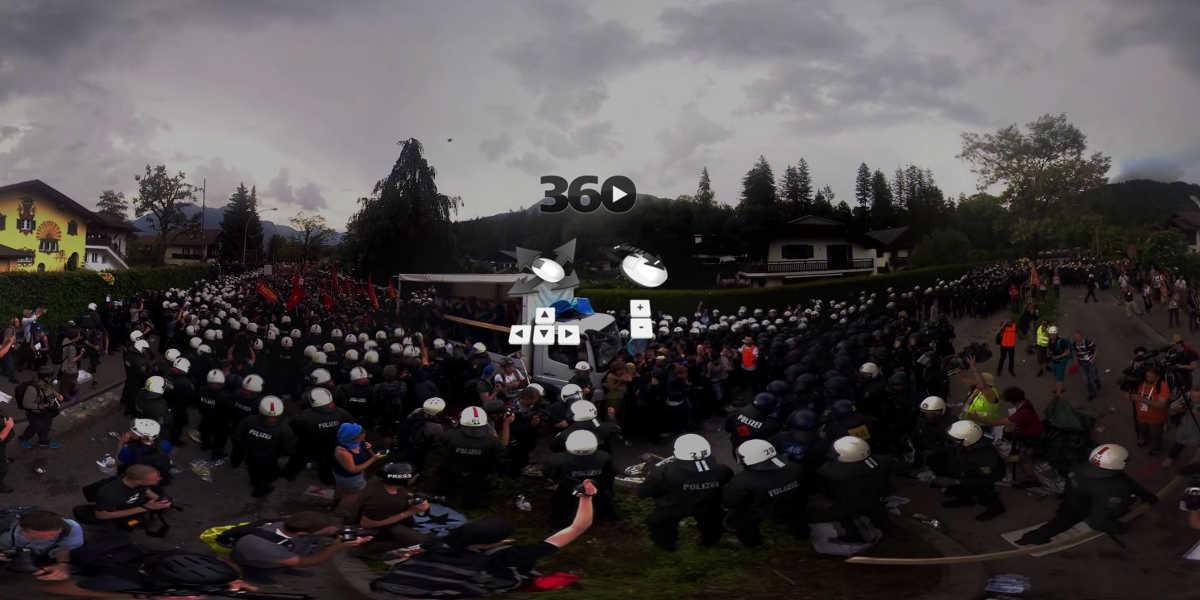 Deutsche Medien probieren sich in 360°-Aufnahmen