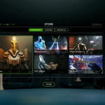 Stolz präsentiert Palmer Luckey sein neues Interface. Quelle: Oculus VR Livestream