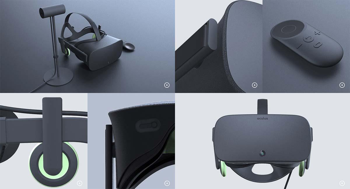 Neue Bilder der Oculus-Rift-Consumer-Version mit eingebauten Kopfhörern und Kamera sowie die Fernbedienung.