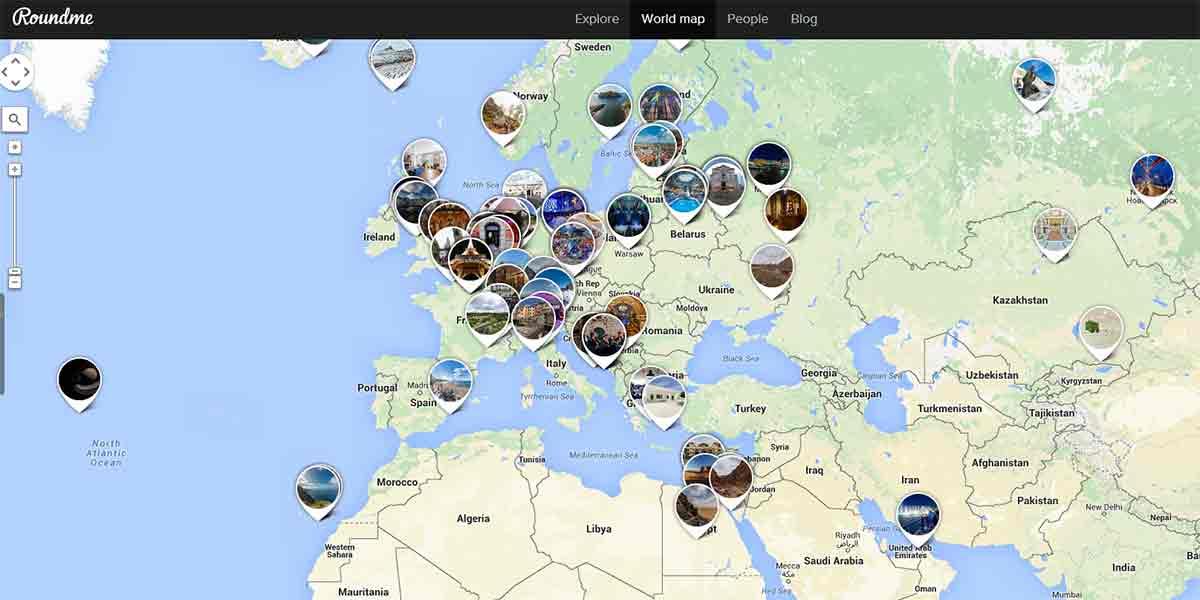 Roundme: Einmal um die Welt in 80 Klicks