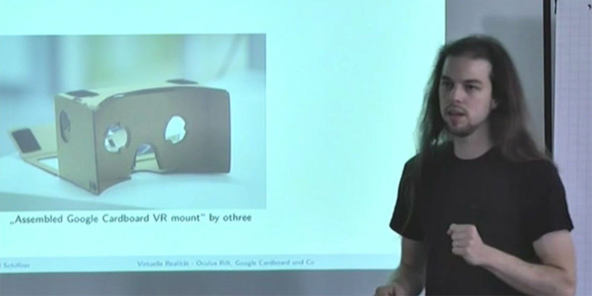 Daniel Schiffner, Informatiker der Uni Frankfurt, spricht über Virtual Reality und Forschung