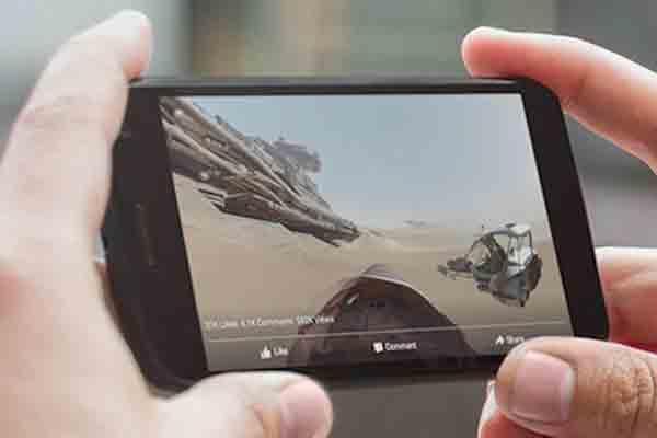 Facebook unterstützt 360° Videos direkt auf der Seite und Apps.