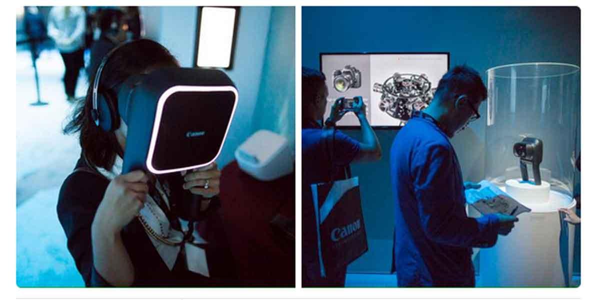 Canon zeigte auf der Canon Expo NY 2015 erstmals sein 360° Video Display.