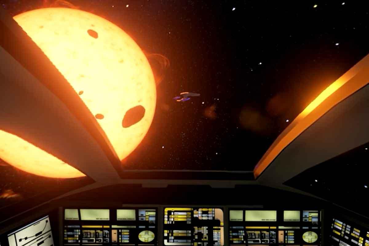 Rundgang im Raumschiff Enterprise in VR