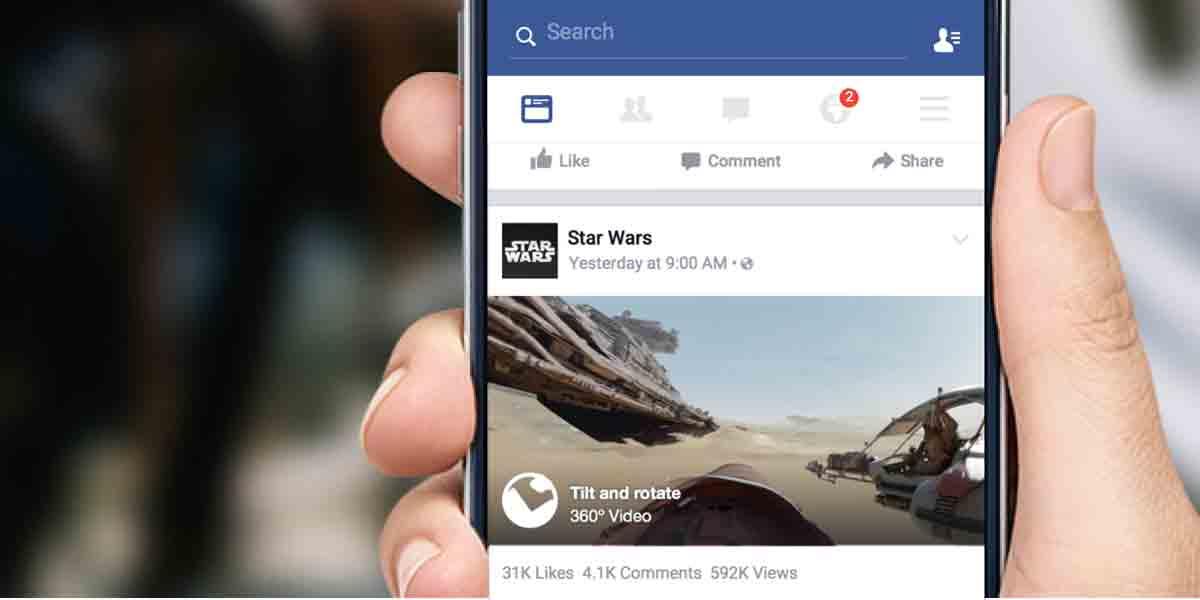Facebook: 360-Grad-Videos in der Timeline