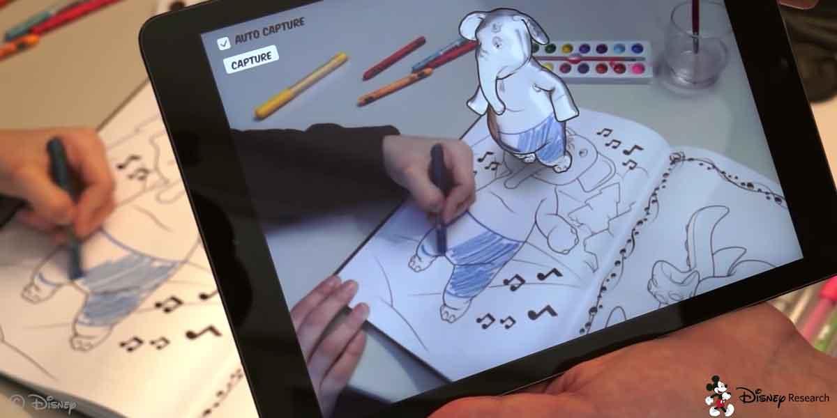 Augmented-Reality-Malbuch von Disney