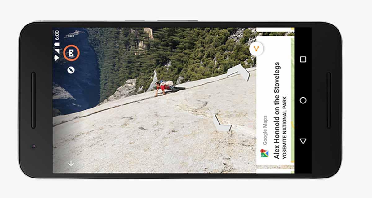 Virtual-Reality-Update für Streetview: Die App unterstützt ab sofort Google Cardboard.