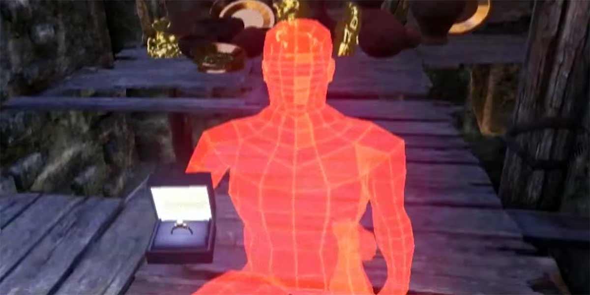 Heiratsantrag im virtuellen Tempel