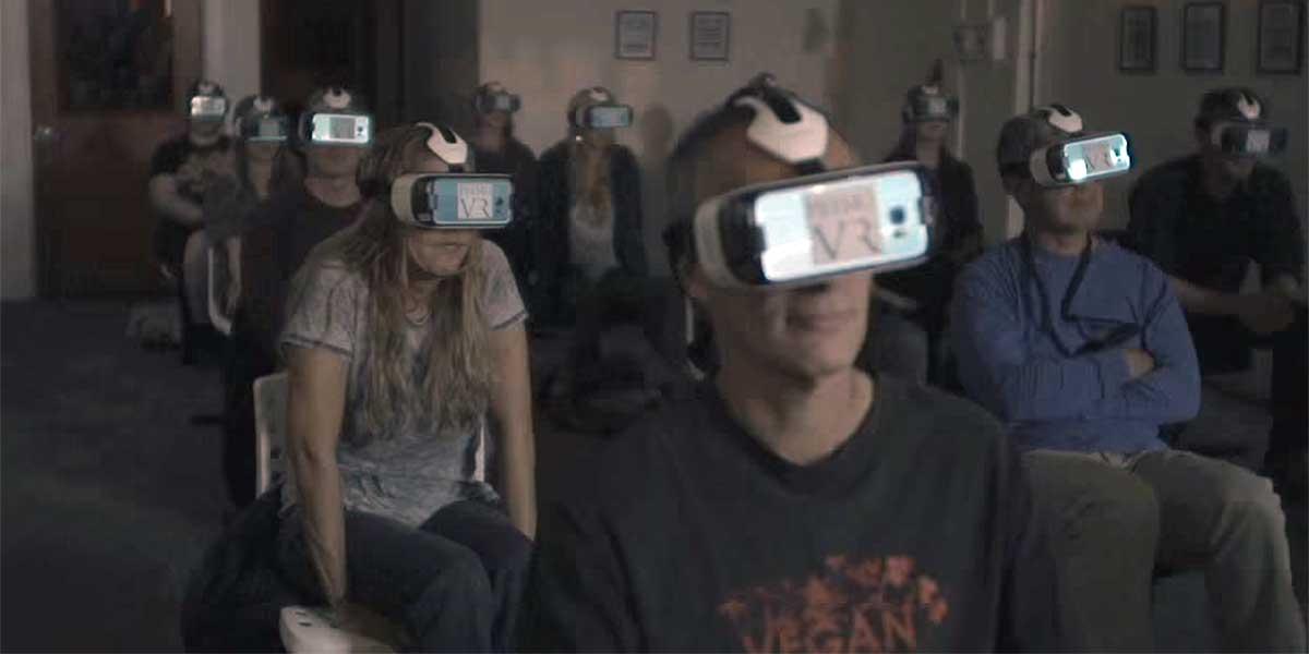 Reaktion im Virtual-Reality-Kino