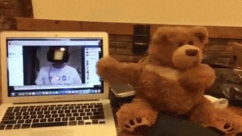 Teddybär wird mit Oculus Rift ferngesteuert
