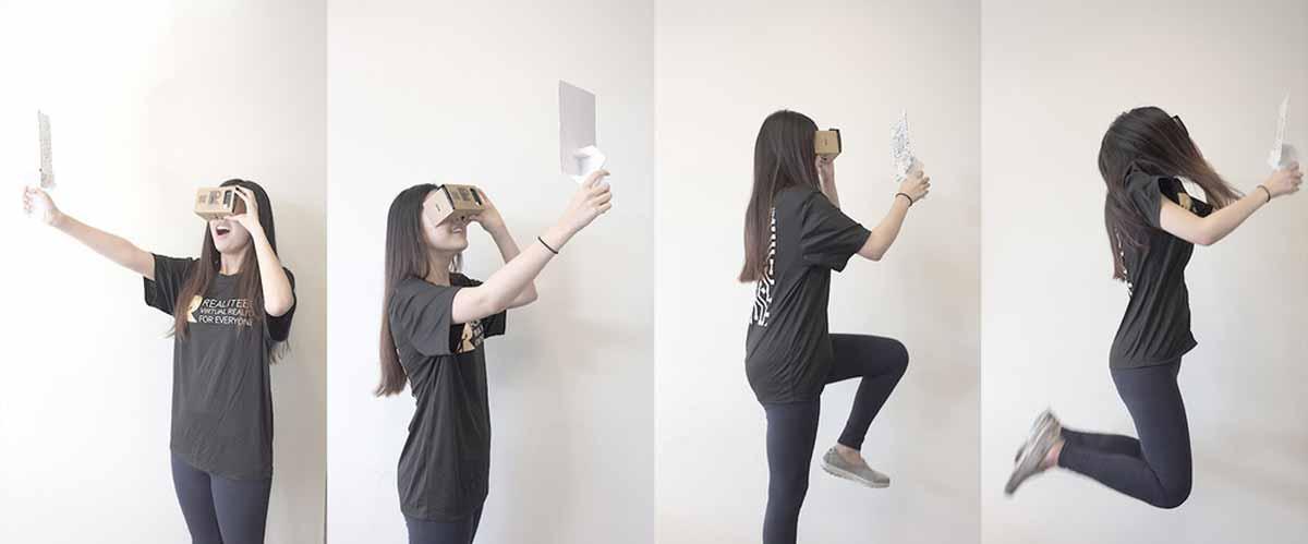 Bewegungscontroller aus Pappe für Cardboard