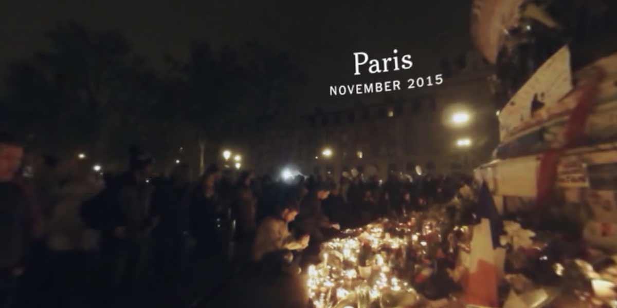 VR-Doku der New York Times über die Trauer in Paris nach den Attentaten.