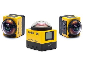 Die Pixpro SP360 Action-Cam von Kodak hat eine Super-Weitwinkellinse. Quelle: Kodak