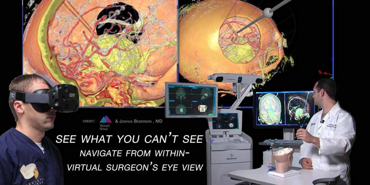 HTC investiert in spezielle Software mit der Neurochirurgen sich in Virtual Reality auf OPs vorbereiten sollen.