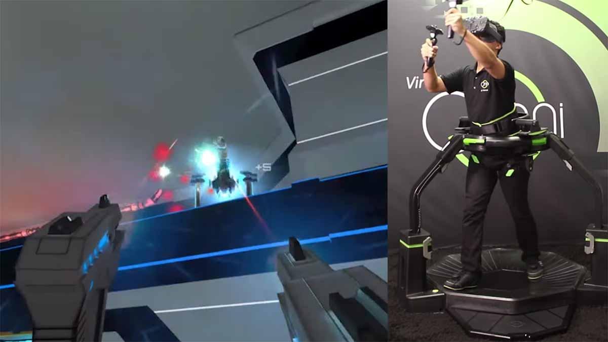 Runter vom Schreibtischstuhl und ab auf das Laufband. Der Virtual-Reality-Sport der Zukunft könnte athletischer werden.