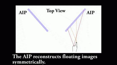 Mit Hilfe von Lichtfeld-Spiegeln wird eine optische Kopie übertragen.
