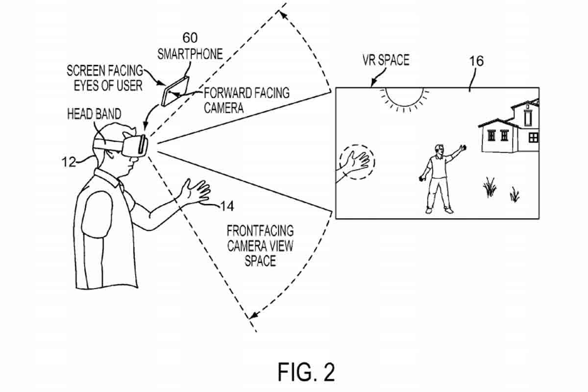 Handtracking für die Interaktion mit Sonys mobiler VR-Brille.