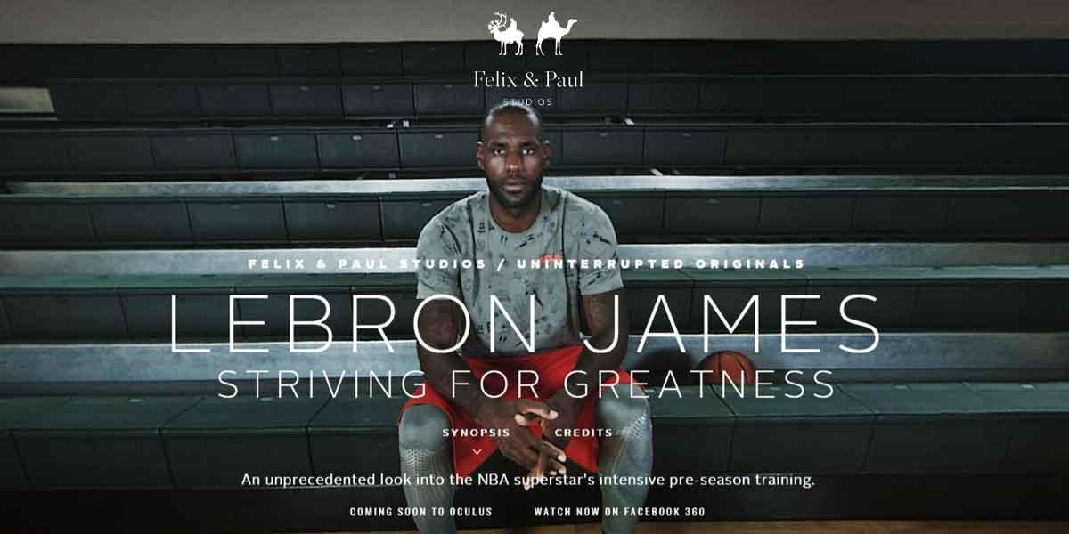 Ein Tag im Leben von Profi-Sportler Lebron James in 360°.