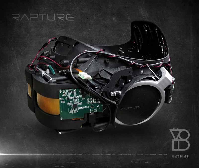 High-End VR-Brille für den VR-Vergnügungspark The Void vorgestellt. Quelle: The Void