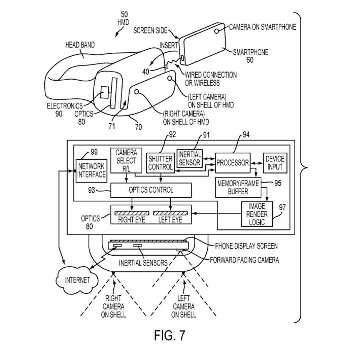 "Mehr Details zu Sonys ""Gear VR"". Quelle: United States Patent and Trademark Office / Sony"