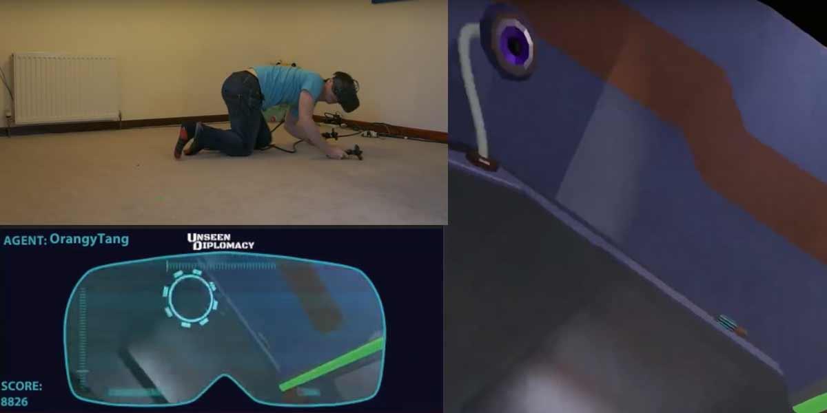 Laut den Entwicklern des Vive-Spiels Unseen Diplomacy kann das Trackingsystem von Oculus Rift eine Fläche von 4m x 3m nicht präzise erfassen.