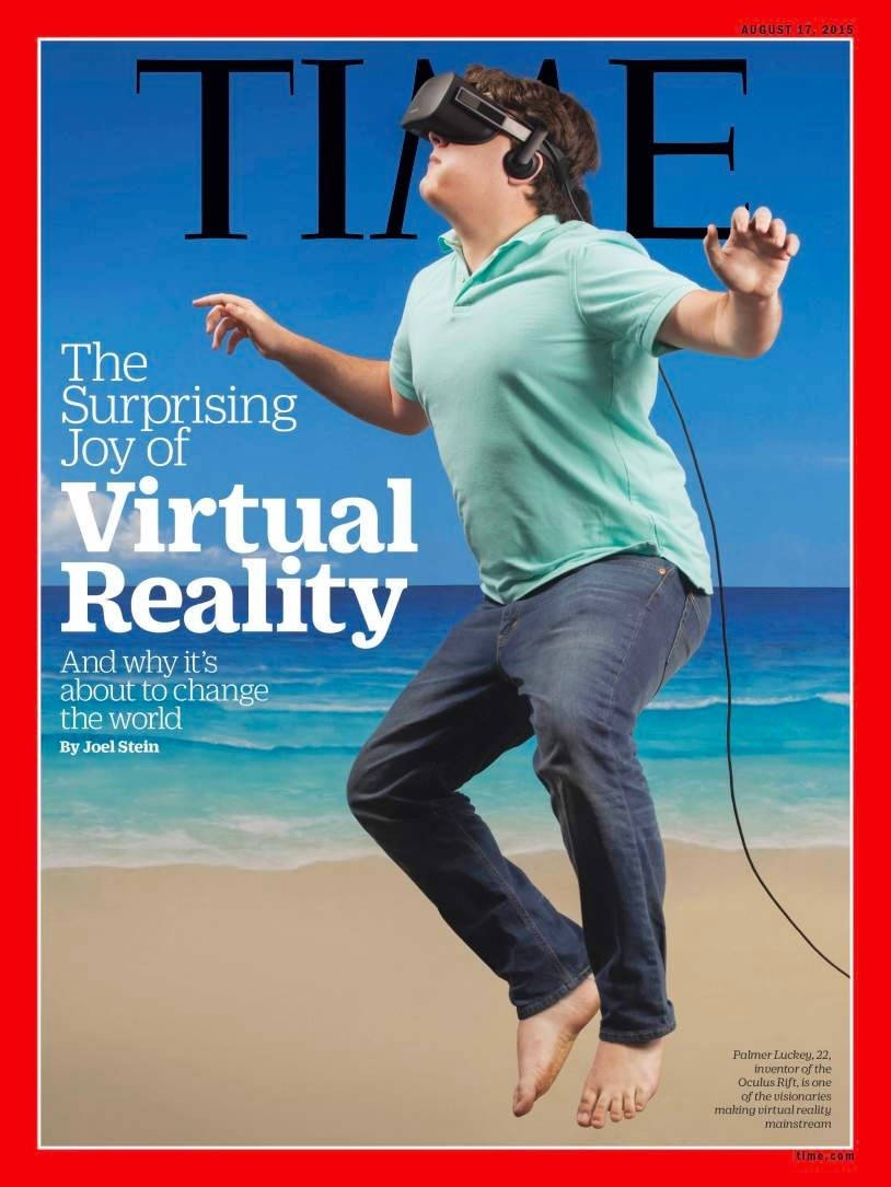 Palmer Luckey auf dem Titelblatt des Time-Magazins. SOURCE: TIME-Magazin