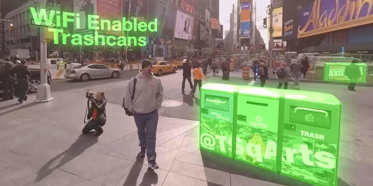 In New York City überwachen zahlreiche unsichtbare Sensoren und Netzwerke den Alltag der Bürger.