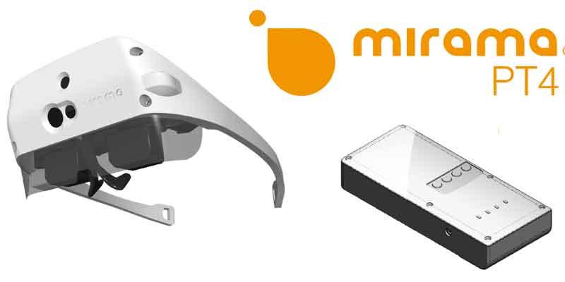 Designstudie der Mirama Datenbrille