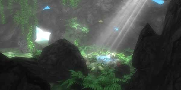 In der Steinhöhle soll der Nutzer einen Rückzugsort finden und alle Gedanken loslassen.