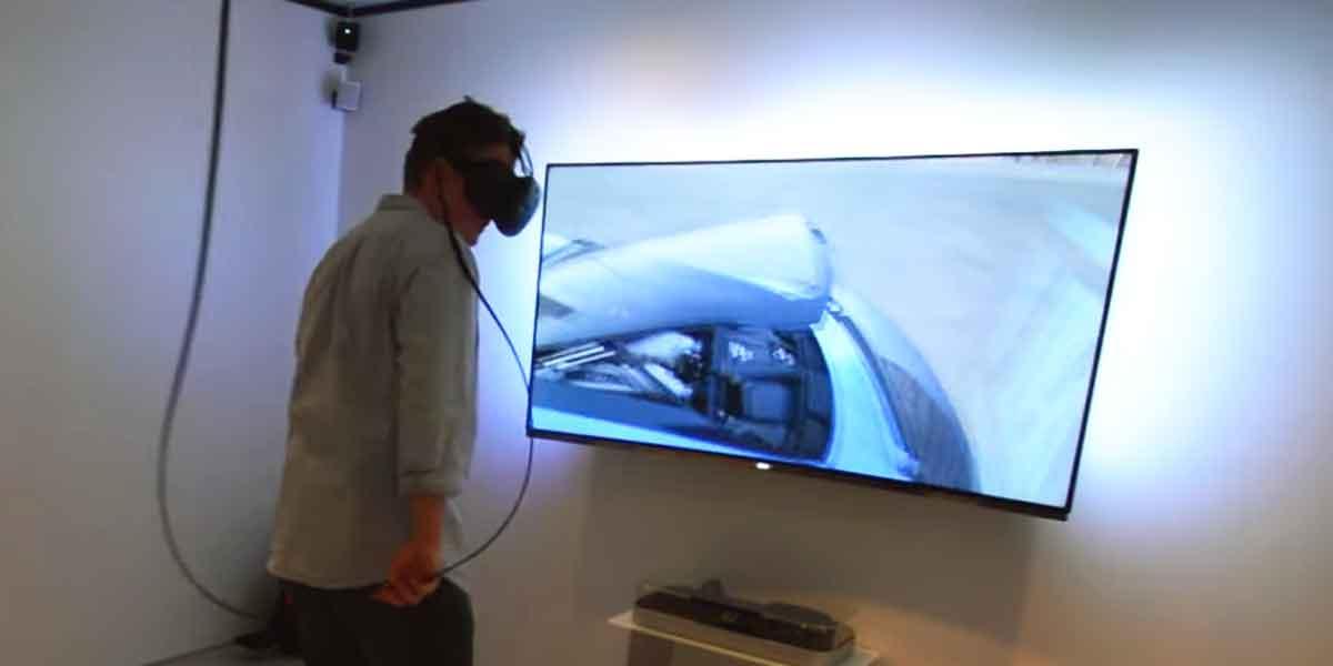 Audis Virtual-Reality-Showroom auf der CES ausprobiert