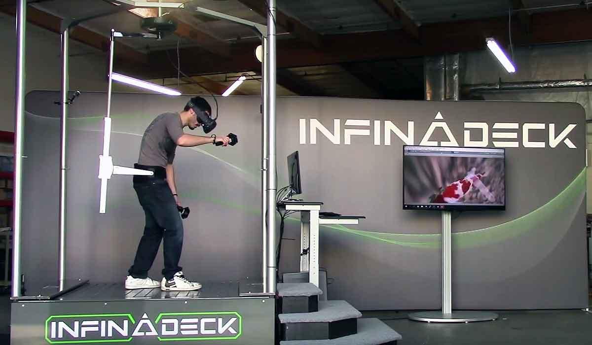 Neues Virtual-Reality-Laufband: Infinadeck