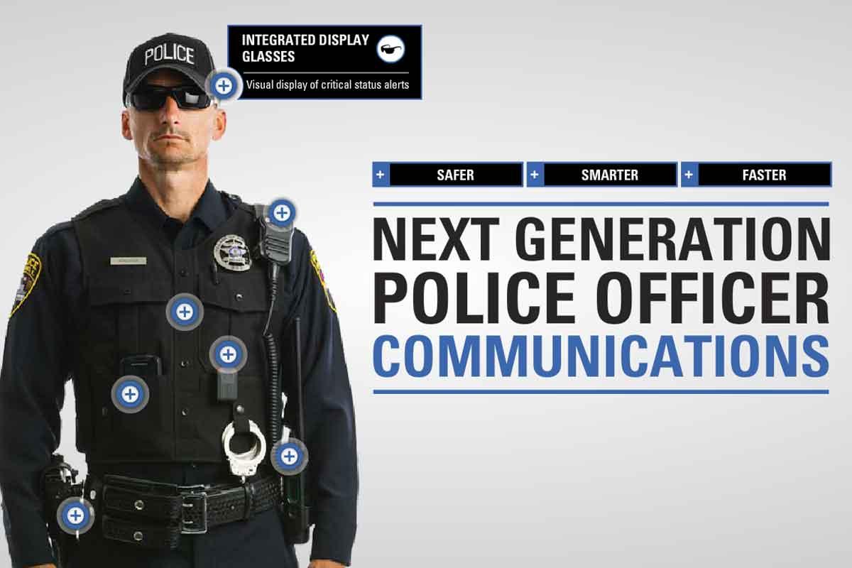 Motorola arbeitet an einer speziellen Datenbrille, die die Arbeit von Polizisten in Zukunft sicherer und effizienter machen soll.