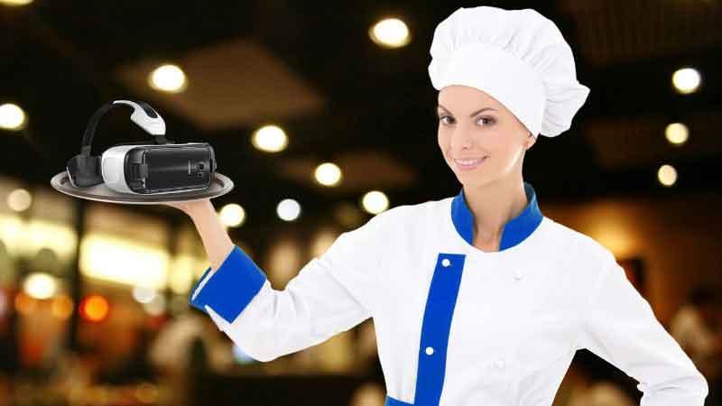 Samsung schlägt den Einsatz von Virtual-Reality-Brillen im Restaurant vor.