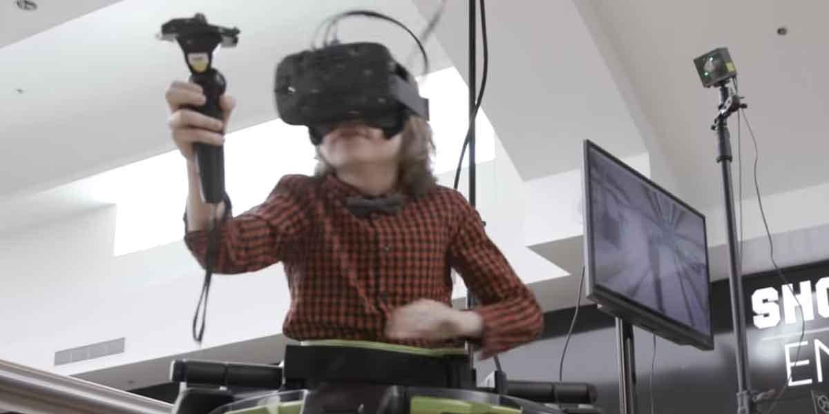 HTC Vive mit Virtuix Omni: Reaktionen auf erstes VR-Erlebnis