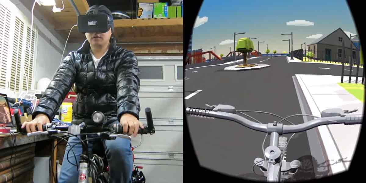 Virtual-Reality-Heimtrainer Marke Eigenbau