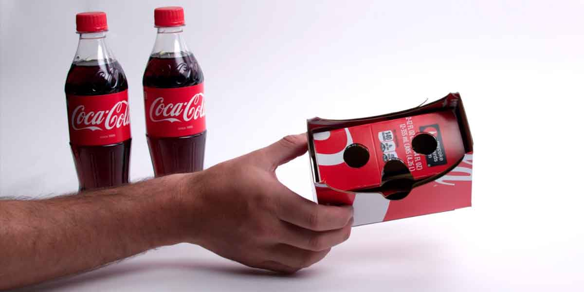 Google Cardboard VR-Brille aus Cola-Verpackung basteln