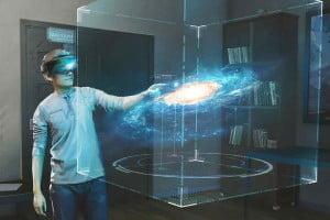 """Die Augmented-Reality-App """"Galaxy Explorer"""" für Hololens nimmt erste Formen an."""