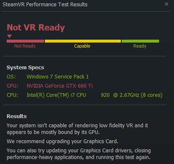 Der Performance-Test gibt einen relativ genauen Anhaltspunkt, wie VR-tauglich der eigene PC ist. BILD: Steam