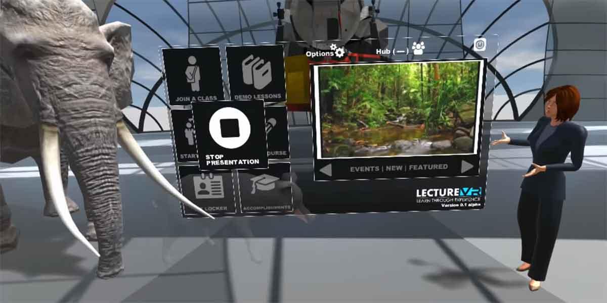 """Mit """"Lecture VR"""" sollen Schüler zukünftig in Virtual Reality unterrichtet werden."""